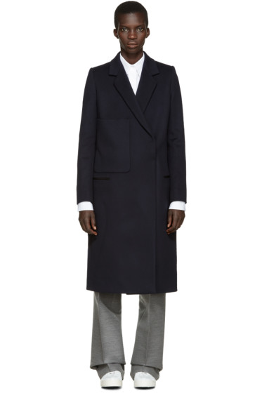 Ports 1961 - Navy Oversized Pocket Coat