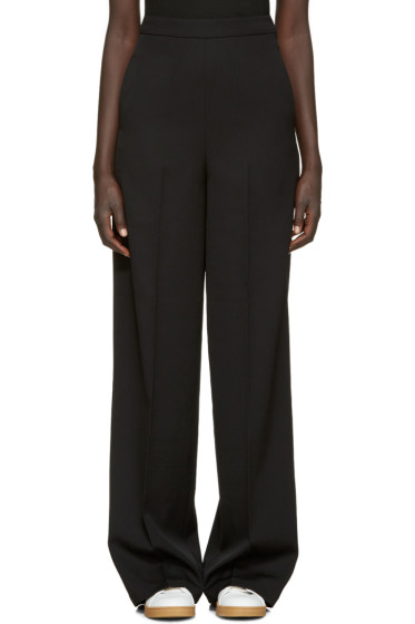 Ports 1961 - Black Wool High-Rise Trousers