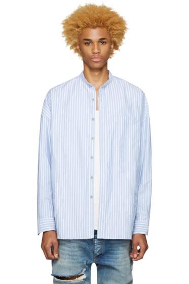 Fear of God - SSENSE Exclusive Blue Mandarin Oxford Shirt