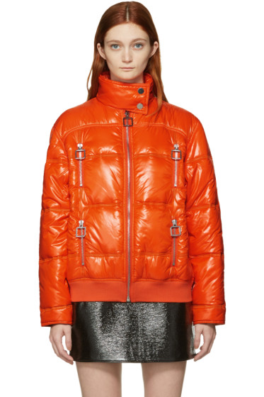 Courrèges - Orange Quilted Jacket