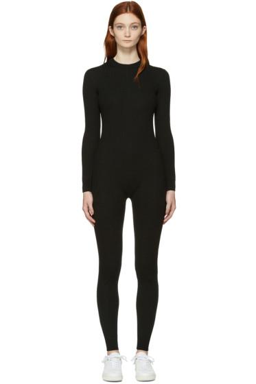 Courrèges - Black Classic Ribbed Jumpsuit