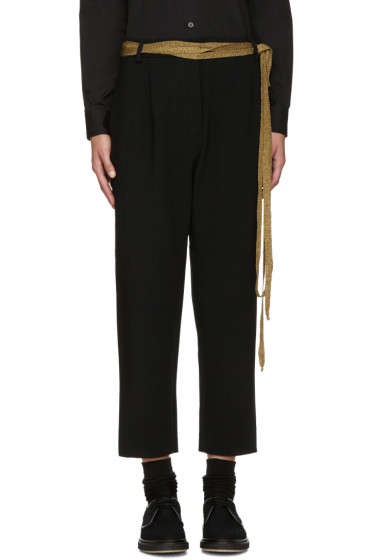 Sara Lanzi - Black Stretch-Crepe Trousers