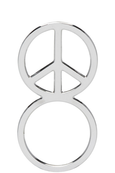 Haal - Sliver Peace Sign Ring