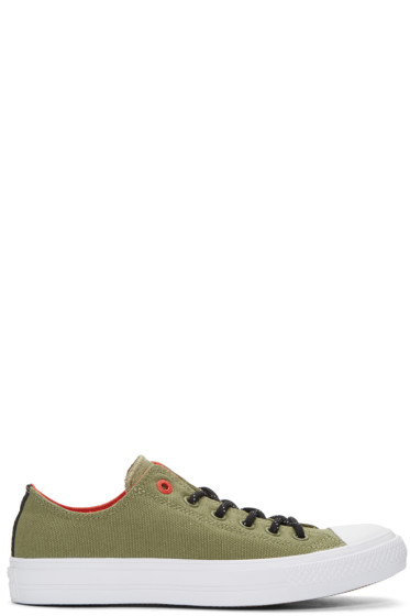 Converse - Green Chuck Taylor All Star II Ox Sneakers