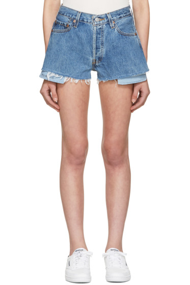 Re/Done - Blue Denim Shorts