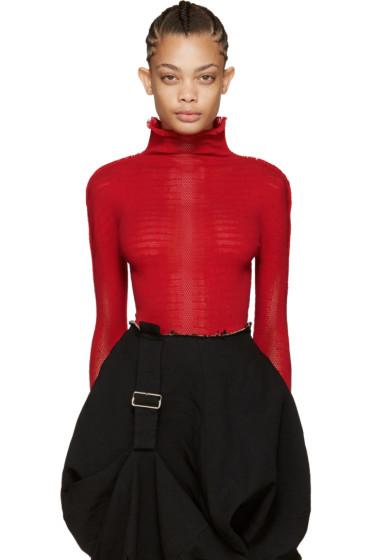Issey Miyake - Red Prism Knit Turtleneck