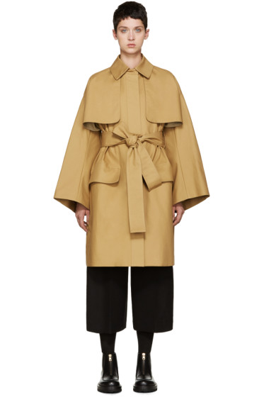 Cyclas - Tan Oversized Trench Coat