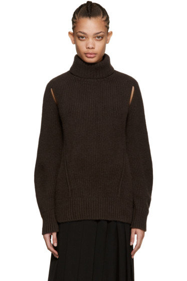 Cyclas - Brown Cut-Out Turtleneck