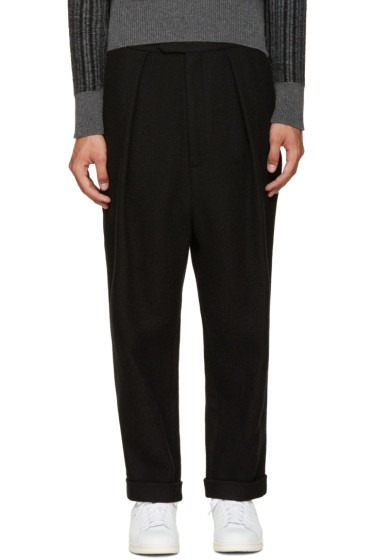 Curieux - SSENSE Exclusive Black Woven Trousers
