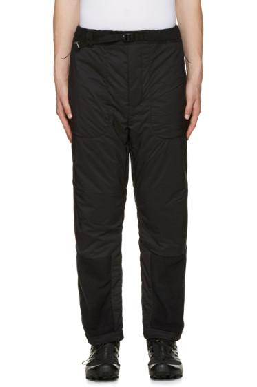 and Wander - Black Twill & Fleece Lounge Pants