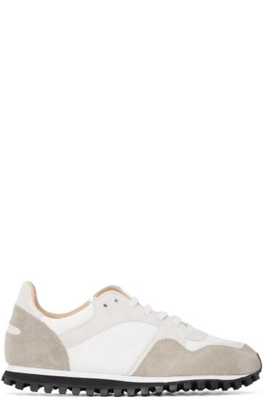 Spalwart - White & Beige Marathon Trail Sneakers
