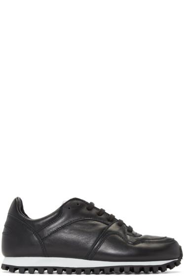 Spalwart - Black Nappa Marathon Sneakers