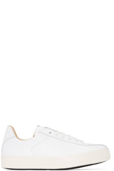 Spalwart - White Nappa Court Sneakers