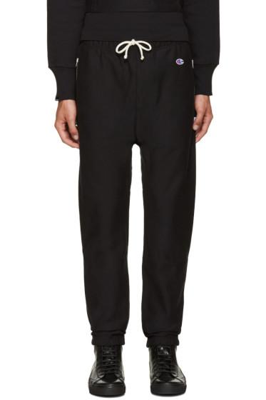 Champion x Beams - Black Reverse Weave Lounge Pants