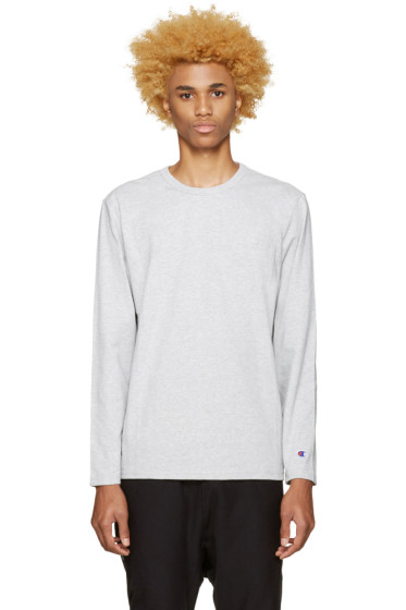 Champion Reverse Weave - Grey Heavy Jersey T-Shirt