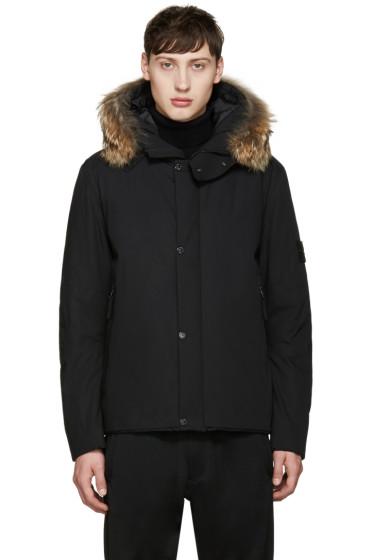 Stone Island - Black Insulated Hooded Jacket