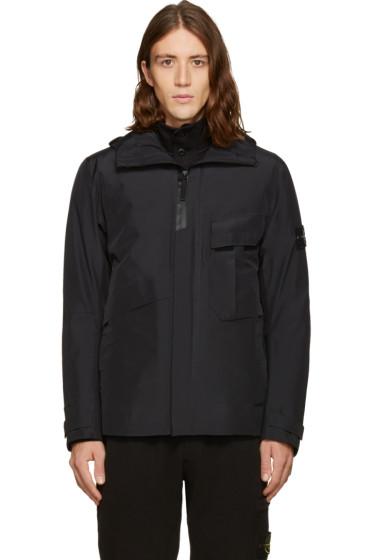 Stone Island - Black Bloson Hooded Jacket