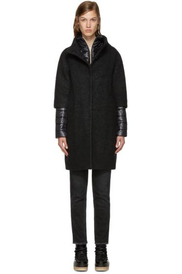Herno - Black Layered Bouclé Coat