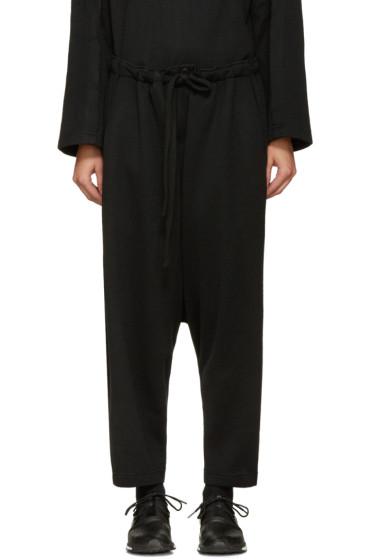Nocturne #22 - Black Wool Lounge Pants