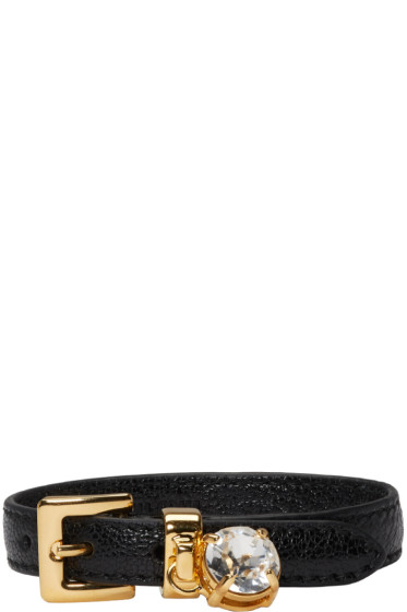 Miu Miu - Black Crystal Belt Bracelet