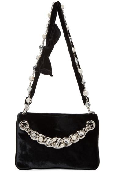 Miu Miu - Black Velvet Bow Bag
