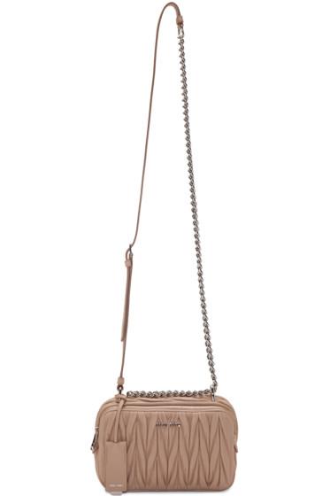 Miu Miu - Nude Matelassé Camera Bag