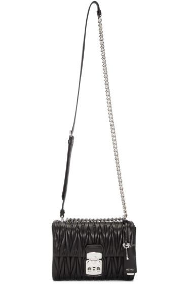 Miu Miu - Black Matelassé Lock Bag