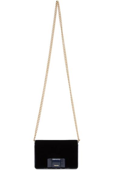 Miu Miu - Navy Velvet Bow bag