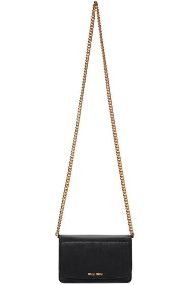 Miu Miu - Black Leather Shoulder Bag