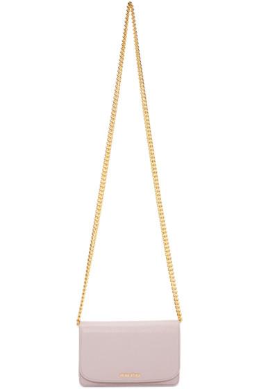 Miu Miu - Pink Leather Shoulder Bag
