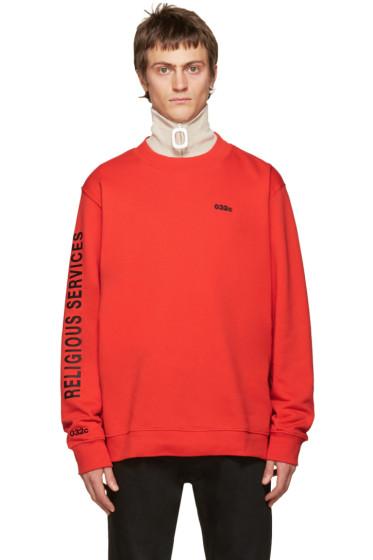 032c - Red Religious Services Sweatshirt