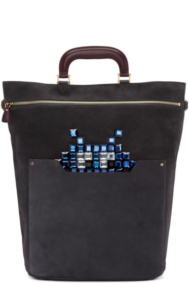 Anya Hindmarch - Grey Small Orsett Space Invaders Bag