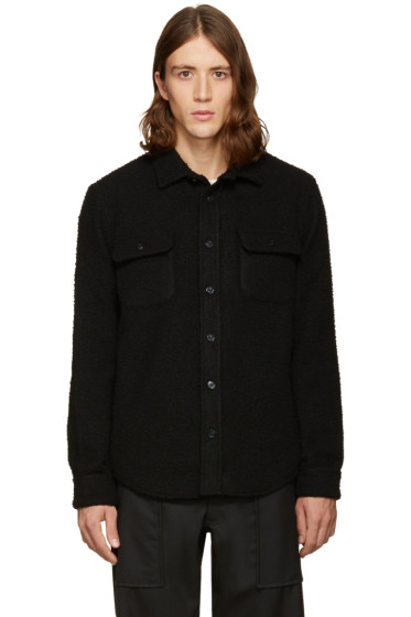 Noah - SSENSE Exclusive Black Wool Teddy Shirt