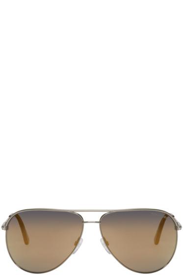 Tom Ford - Gunmetal Erin Aviator Sunglasses