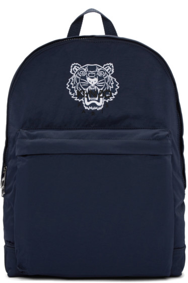 Kenzo - Blue Nylon Tiger Backpack