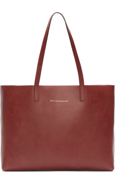 Want Les Essentiels - Brown & Metallic Reversible Straus Tote