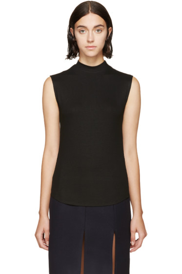 Nomia - Black Rib Knit Top