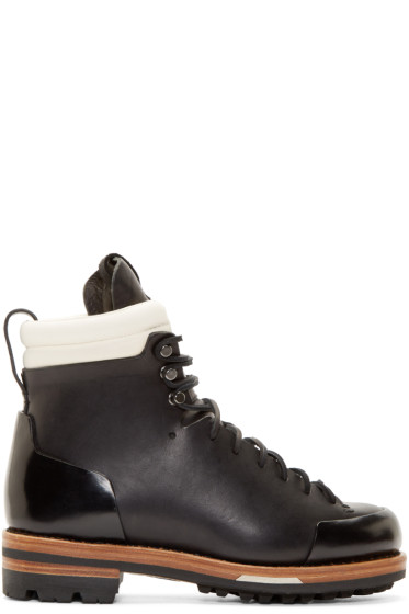 Feit - Black Leather Arctic Hiker Boots