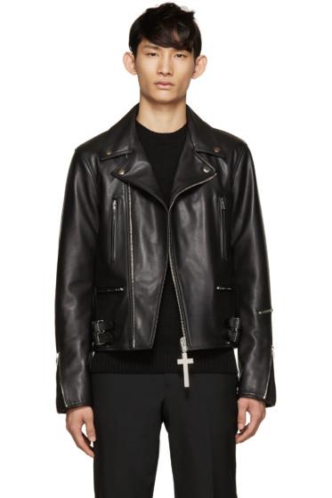 Givenchy - Black Leather Biker Jacket