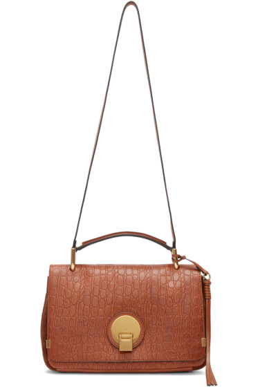 Chloé - Brown Croc-Embossed Medium Indy Bag