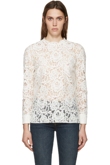 Saint Laurent - Ivory Lace Blouse