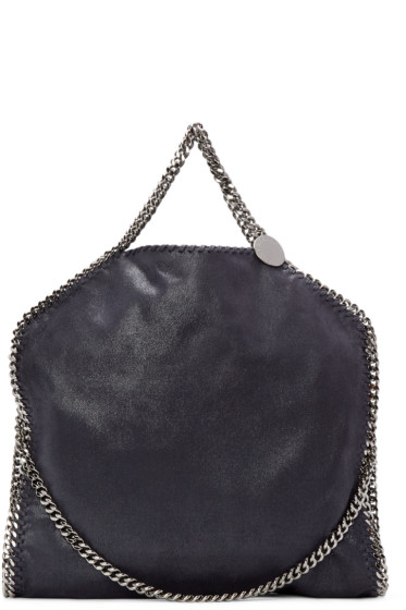 Stella McCartney - Navy Falabella Shaggy Deer Tote