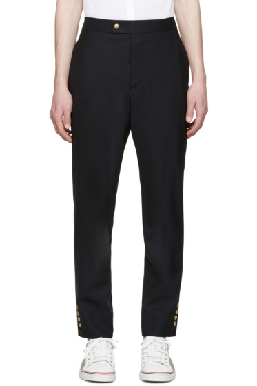 Moncler Gamme Bleu - Navy Wool Classic Trousers