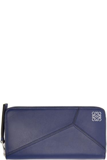 Loewe - Navy Zipper Puzzle Wallet
