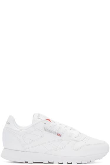 Reebok Classics - White Classic Low-Top Sneakers