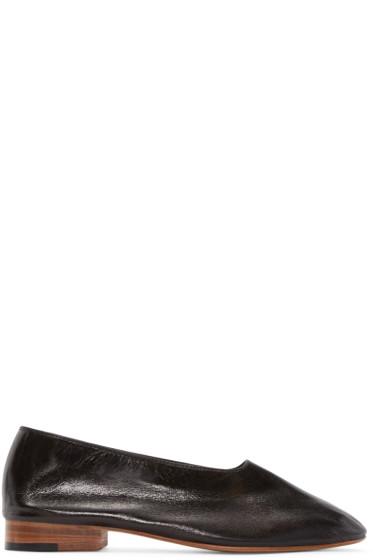 Martiniano - Black Leather Glove Flats