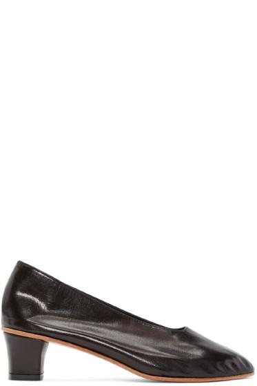 Martiniano - Black Leather High Glove Heels