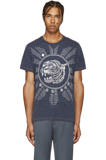 Diesel - Navy T-Joe-Gu Tiger T-Shirt