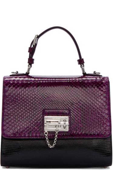 Dolce & Gabbana - Black & Purple Python Monica Bag