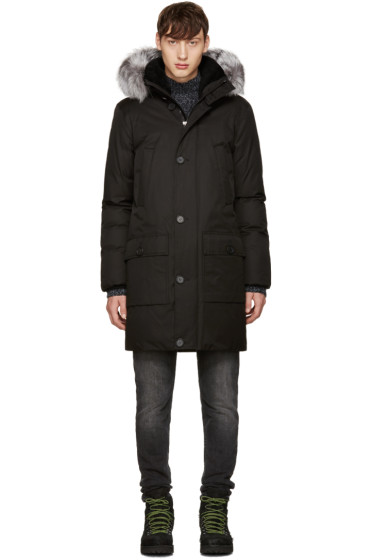 Mackage - Black Fox Fur Vaughn Coat